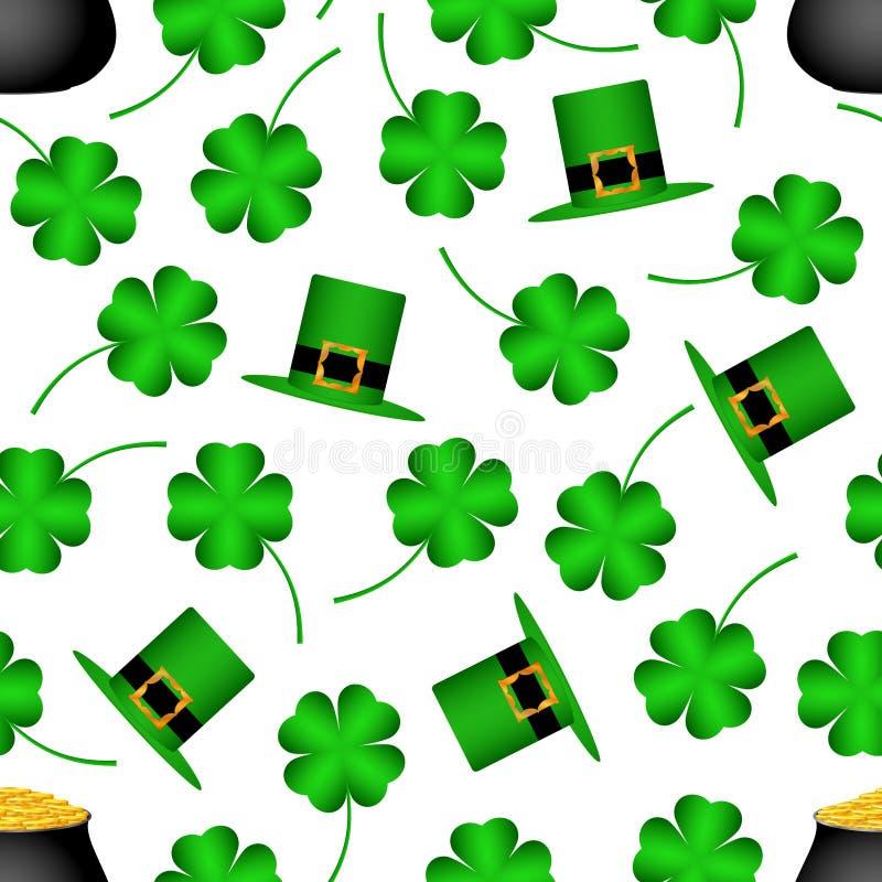 Saint Patrick`s Day seamless pattern royalty free illustration