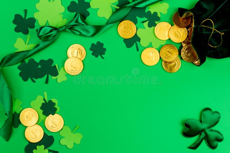 Saint Patrick`s Day & Spring is coming stock photo