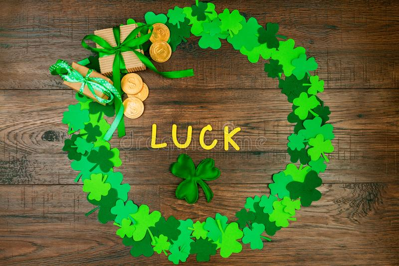 Saint Patrick`s Day & Spring is coming stock images