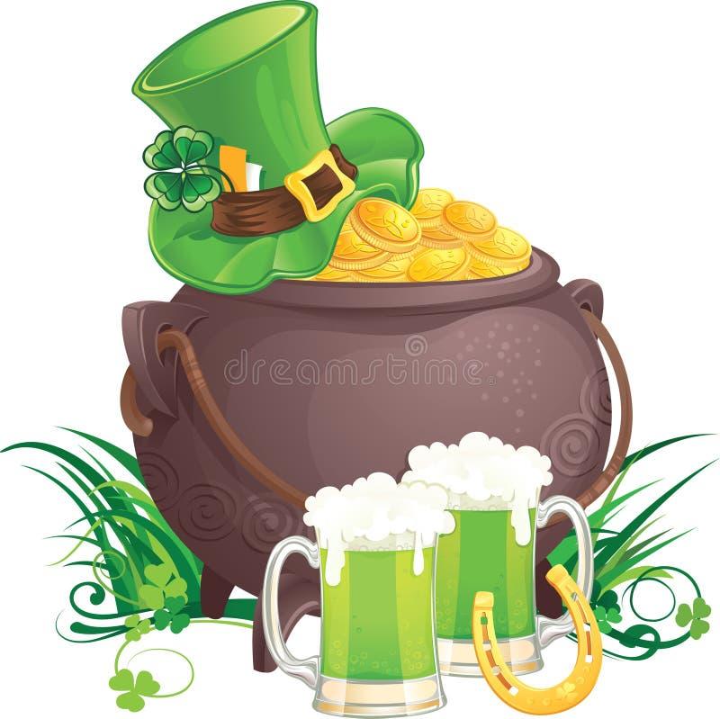 Saint Patrick's Day symbols royalty free stock images