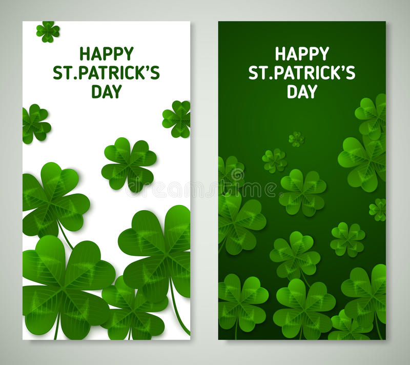 Saint Patrick`s Day Vertical Banners royalty free illustration