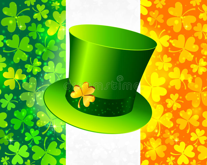 Download Saint Patrick's Hat On Irish Flag Stock Vector - Image: 28038663