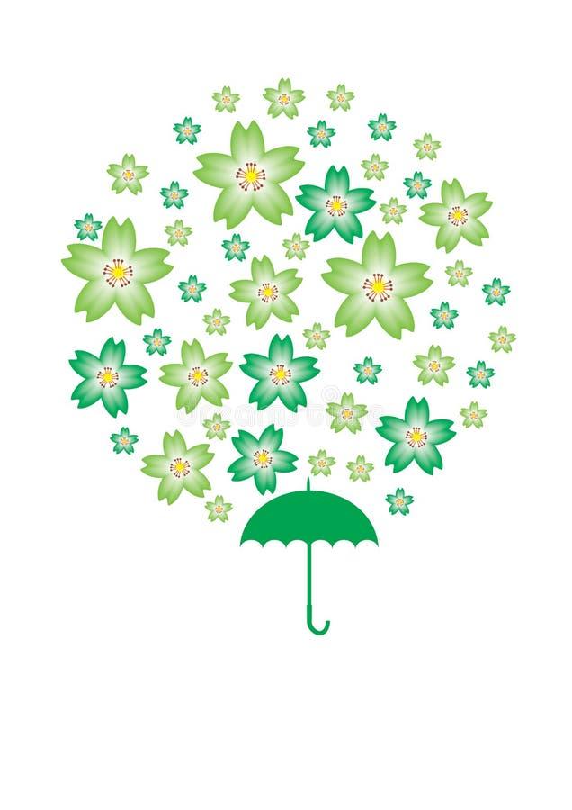 Saint Patrick Sakura. Illustration of Saint Patrick Sakura stock illustration