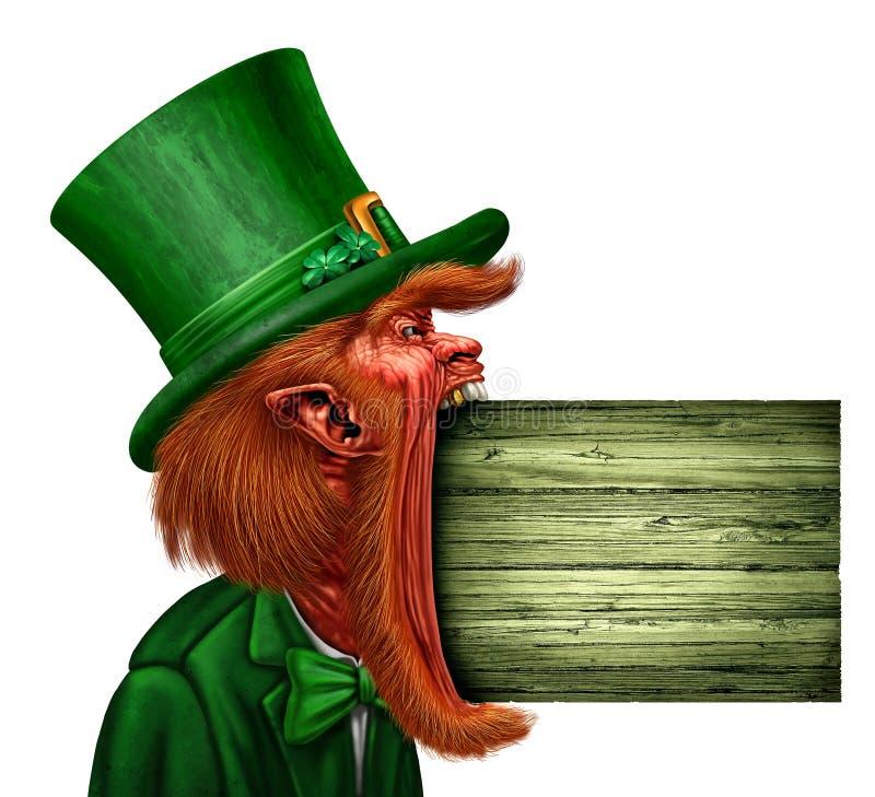 Saint Patrick Sign de lutin illustration stock