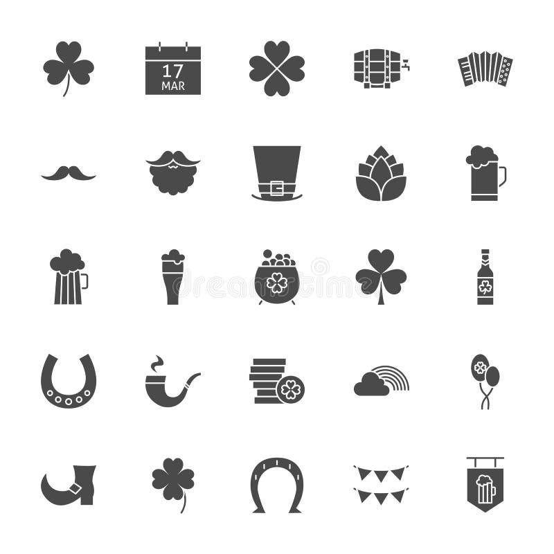 Saint Patrick Solid Web Icons ilustração do vetor