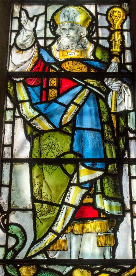 Saint Patrick Stained Glass Window fotos de stock