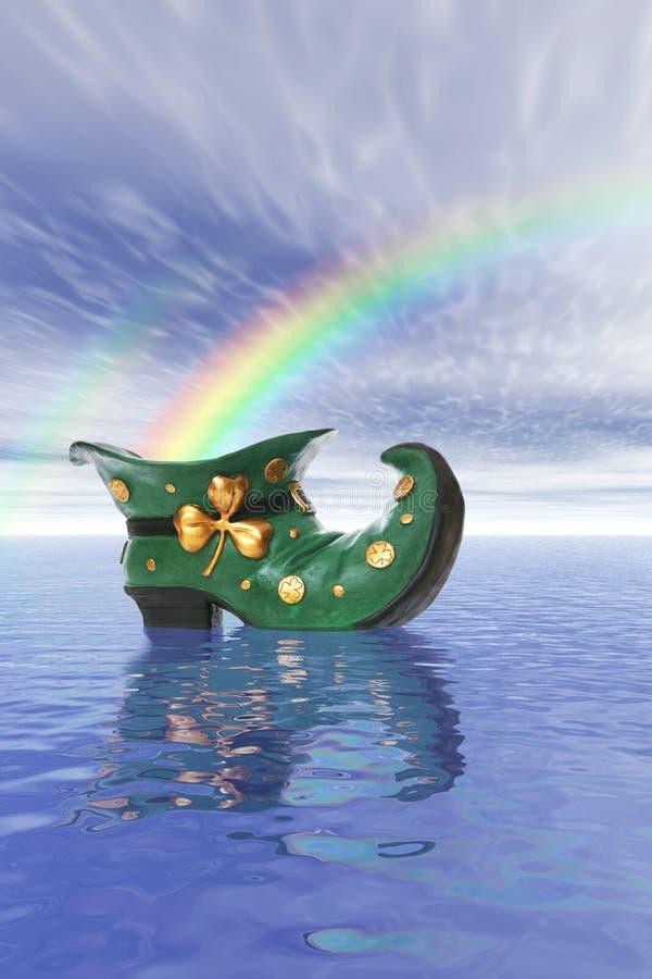 Saint Patricks Day Boot stock illustration