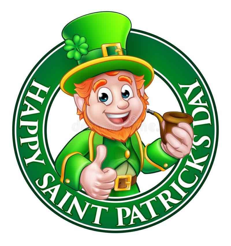 Saint Patricks Day Cartoon Leprechaun Sign Stock Vector ...