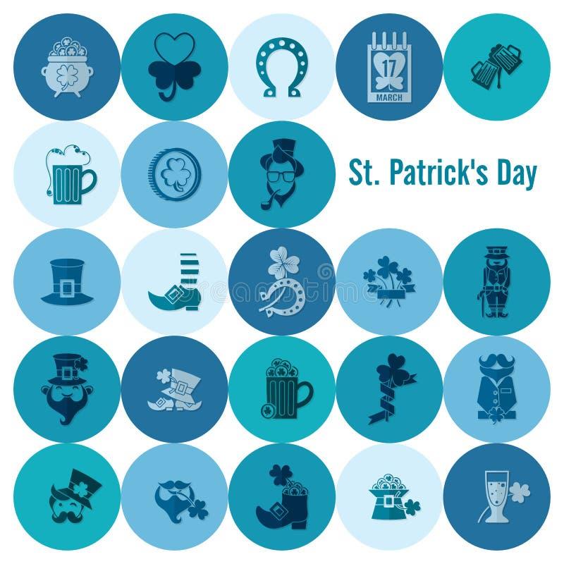 Saint Patricks Day Icon Set. Vector. Clean Work Minimum Points vector illustration