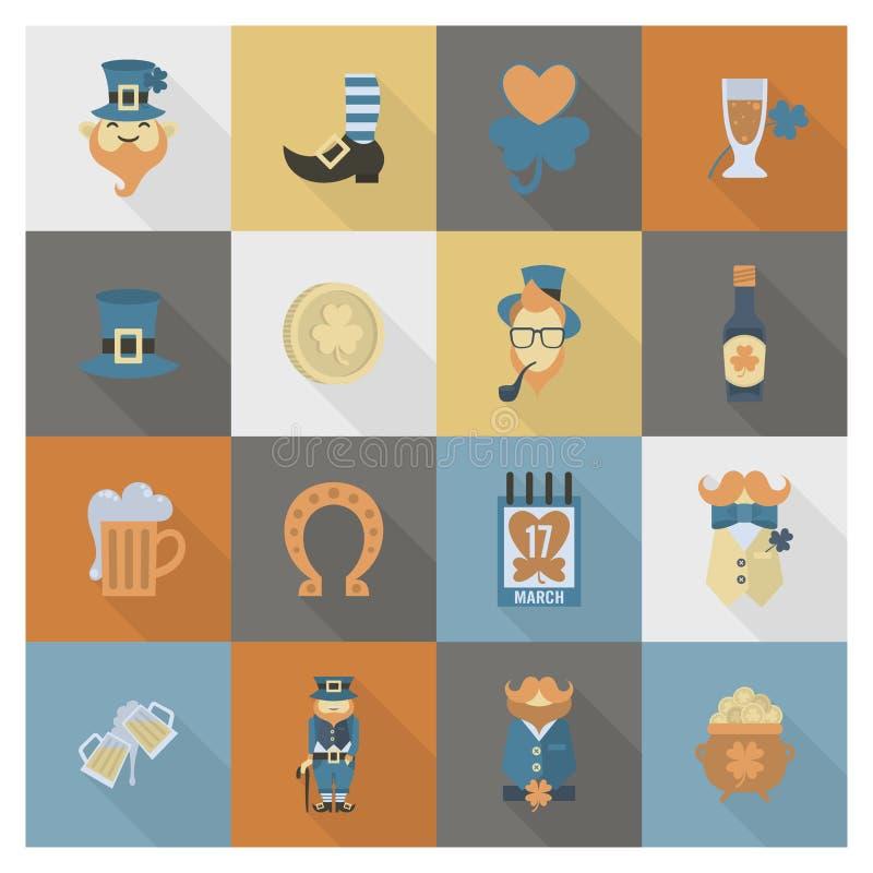 Saint Patricks Day Icon Set. Vector. Clean Work Minimum Points royalty free illustration