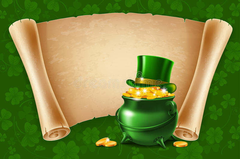 Saint Patricks Day Poster Design royalty free illustration