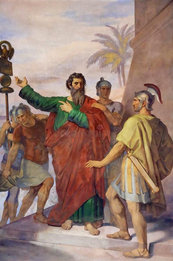 Saint Paul é enviado a Roma fotos de stock royalty free