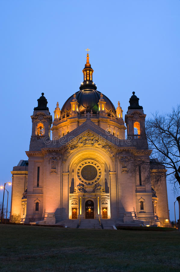 Saint Paul Cathedral Front Entrance stock image