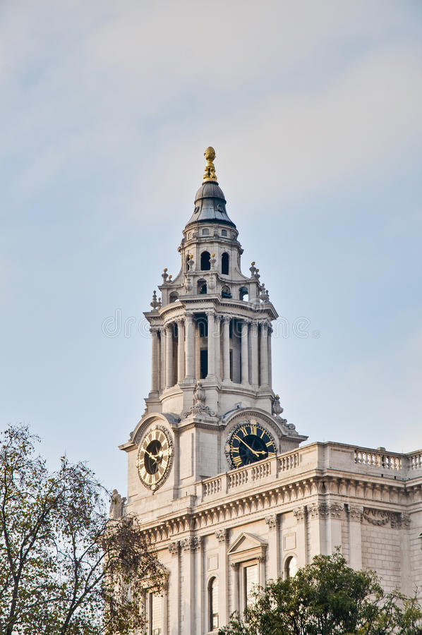 Saint Paul Cathedral At London, England Stock Photo