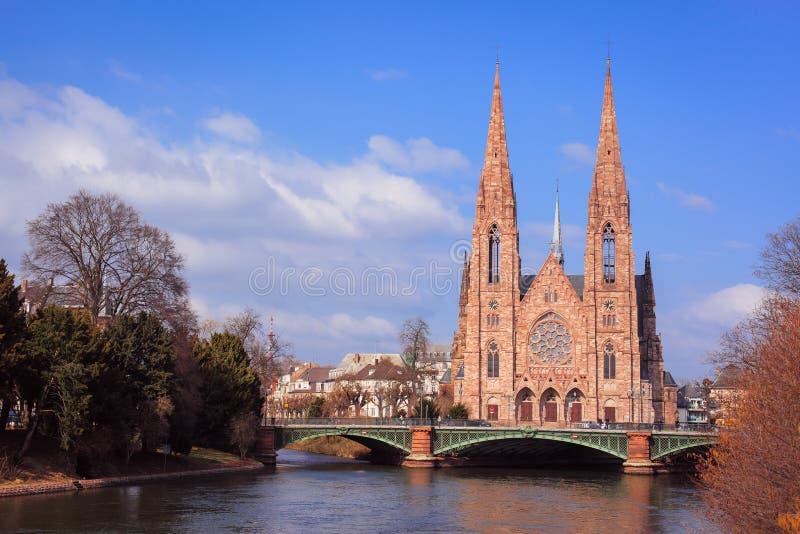 Saint-Paul Church Strasbourg royalty free stock photography
