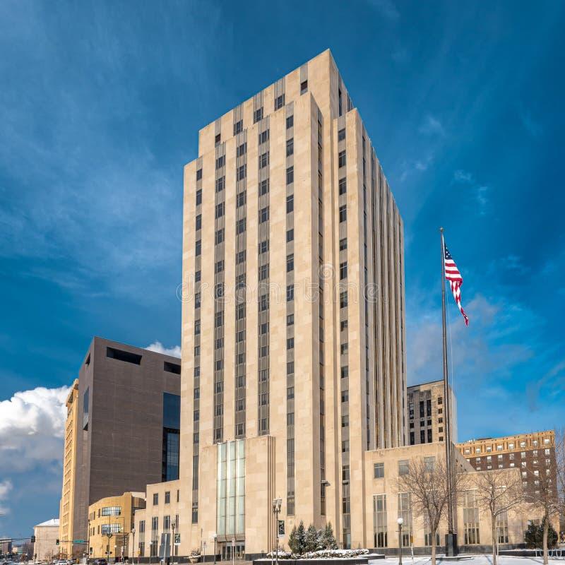 Saint Paul City Hall och Ramsey County Court House royaltyfria foton