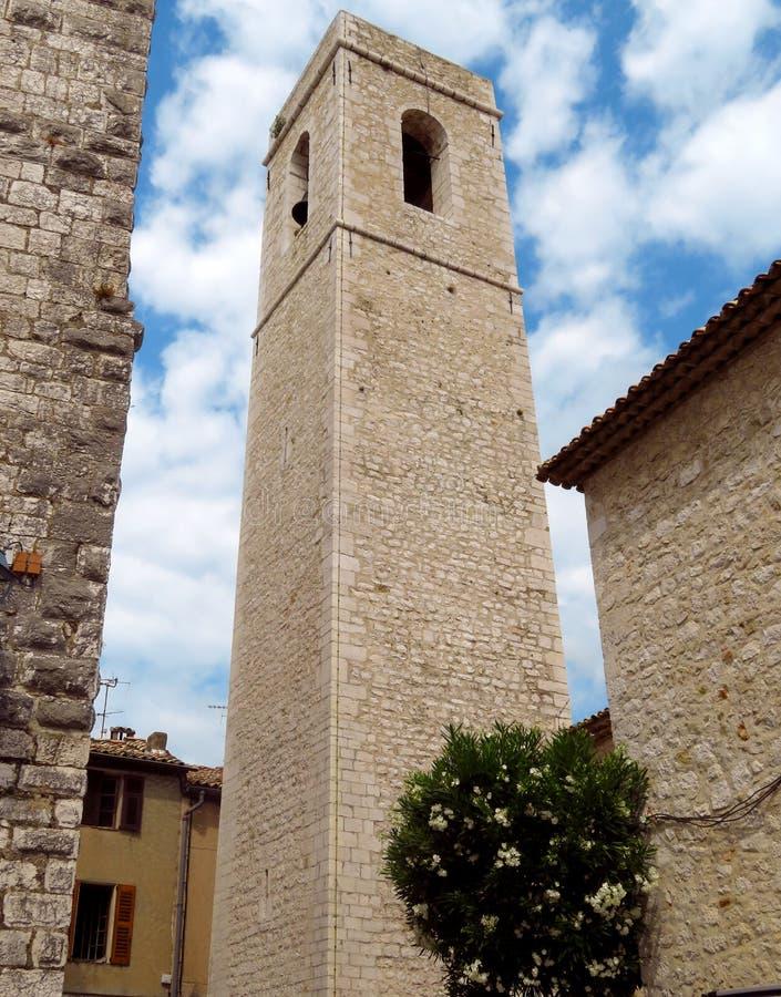 Saint Paul de Vence - igreja medieval velha imagens de stock royalty free
