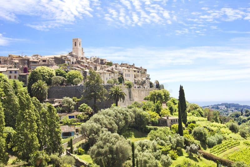 Saint Paul de Vence, south of France. View of Saint Paul de Vence, south of France stock photo