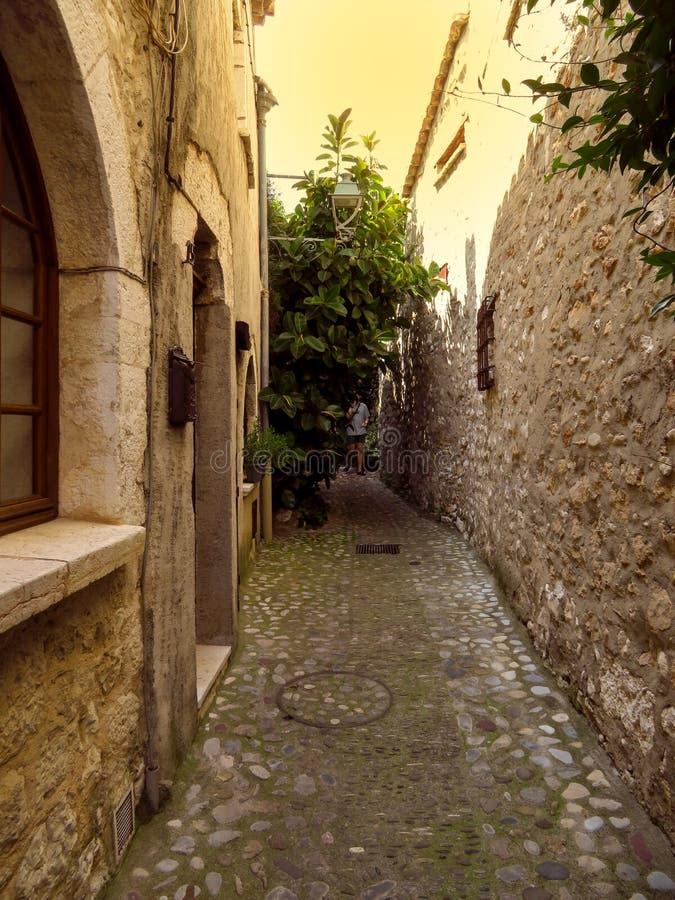 Saint Paul De Vence - ulicy i architektura fotografia royalty free
