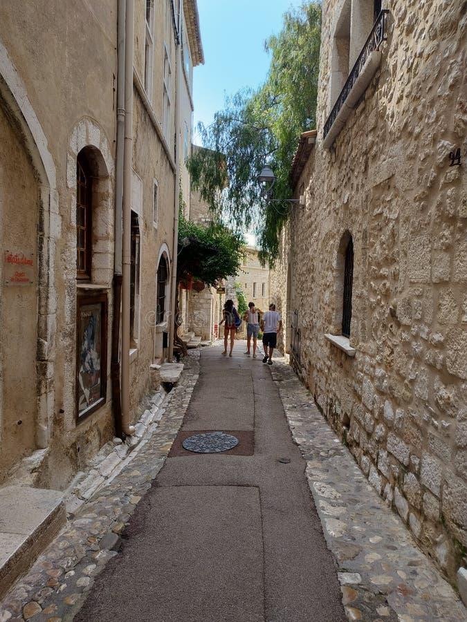 Saint Paul De Vence - ulicy i architektura obraz stock