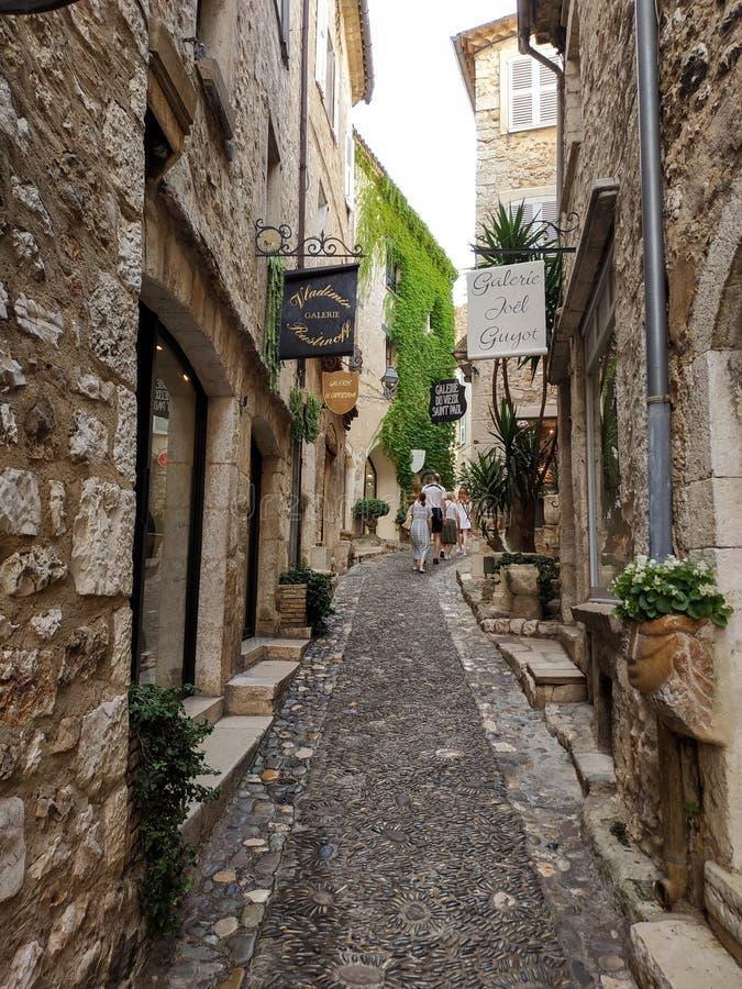 Saint Paul De Vence - ulicy i architektura obraz royalty free