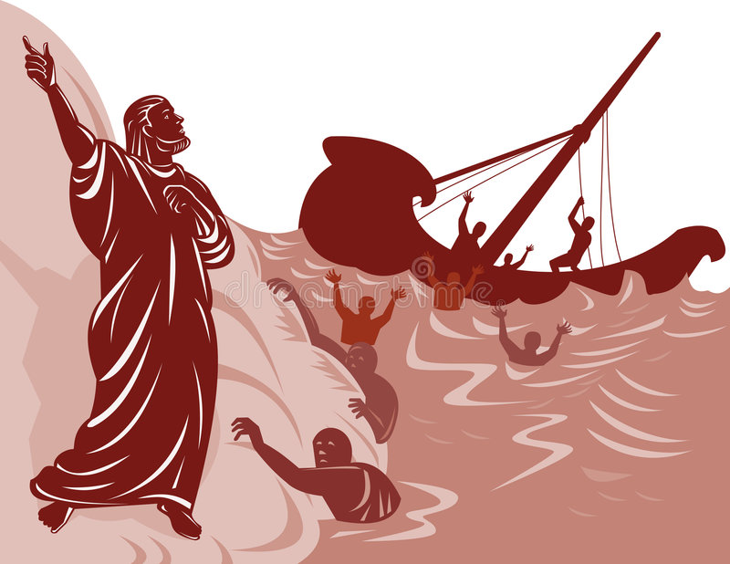 Saint Paul et naufrage illustration de vecteur