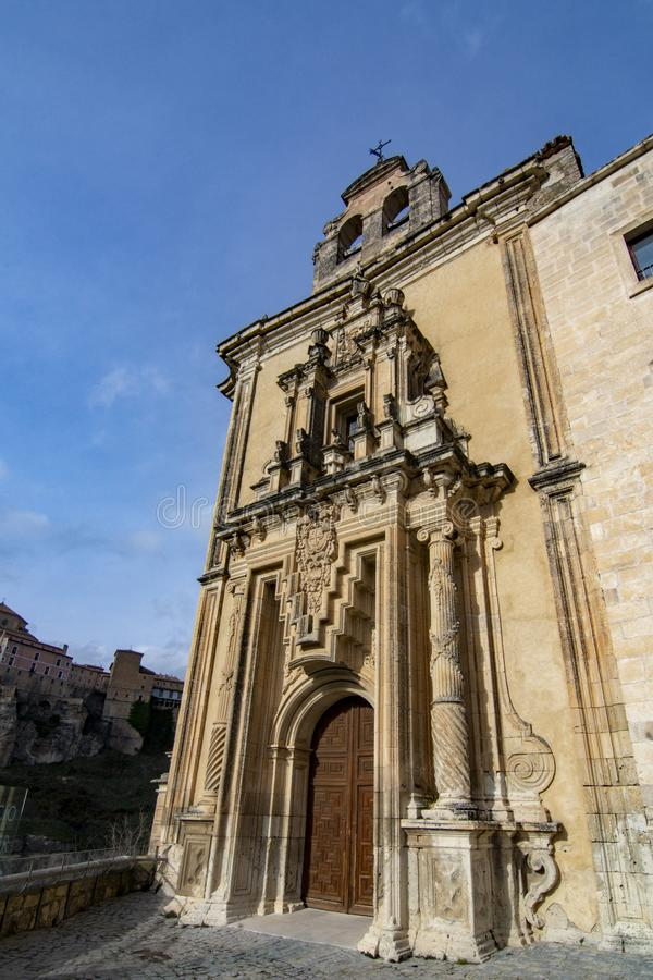 Saint Paul monastery in the outskirts of Cuenca, in Spain stock photos
