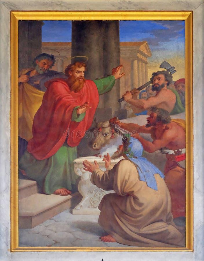 Saint Paul och Barnabas Taken för gudar arkivfoton