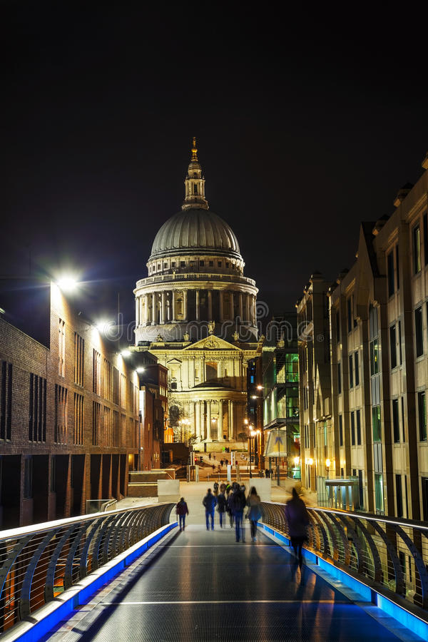 Saint Paul's cathedral in London stock photography