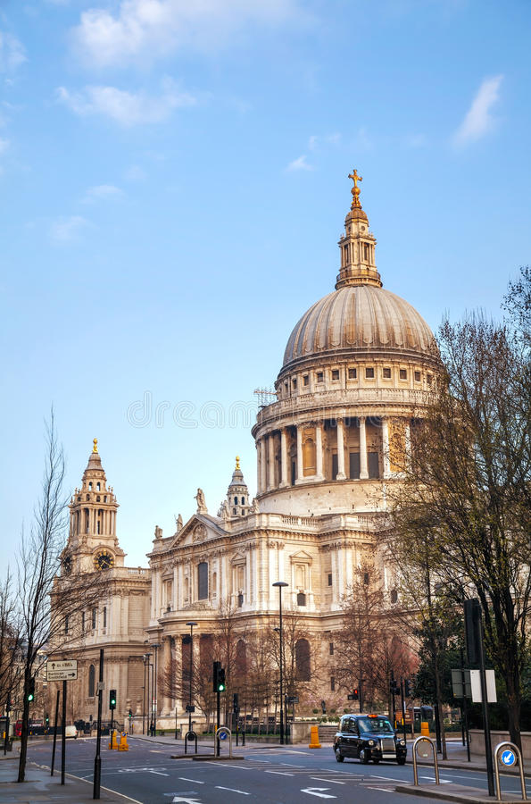 Saint Paul's cathedral in London stock photos