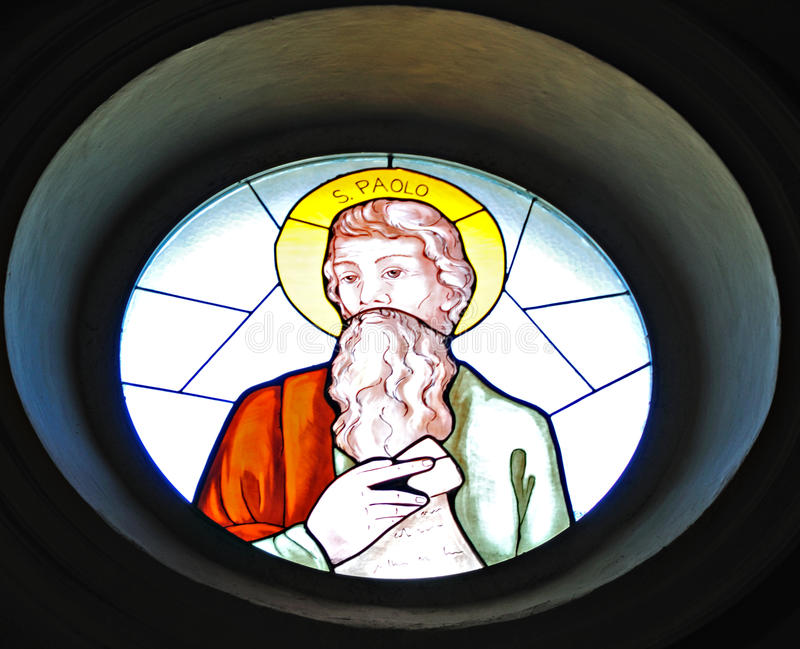Download Saint Paul-Stained Glass stock photo. Image of window - 9444560
