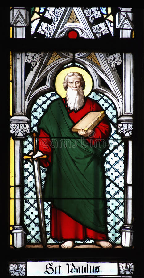Free Saint Paul - Stained Window Royalty Free Stock Photo - 11829305