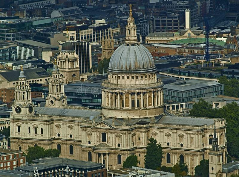 Saint Pauls Cathedral in the heart of London stock photo