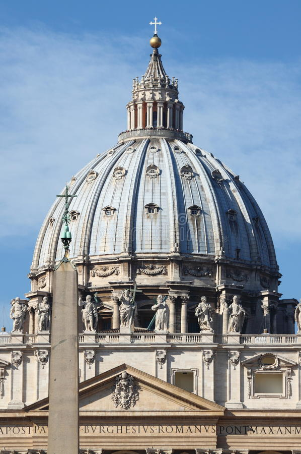 Saint Peter cathedral dome royalty free stock image
