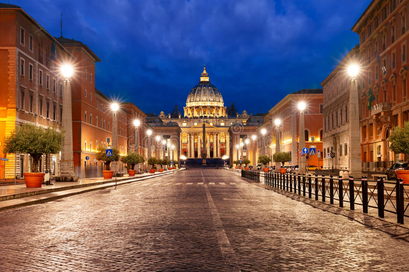 Saint Peter Cathedral in Rome, Vatican, Italy. royalty free stock photography