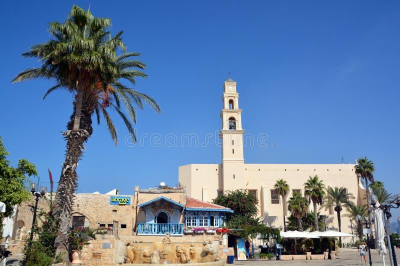 Saint Peter Church. JAFFA ISRAEL 05 11 16: Saint Peter Church is a Franciscan Church in Jaffa. The church was built in 1654 in dedication to Saint Peter was royalty free stock photo