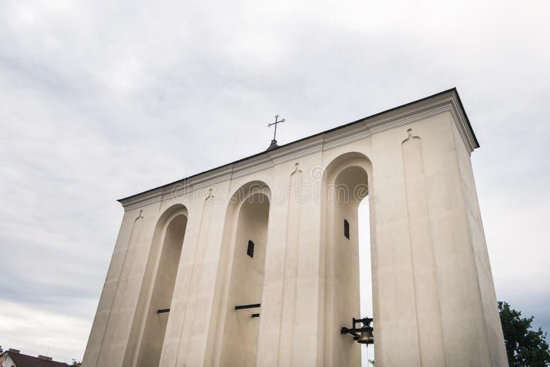 Saint Peter and Paul Cathedral in Lutsk, Ukraine. Bell Tower near Saint Peter and Paul Cathedral in Lutsk, Ukraine stock image