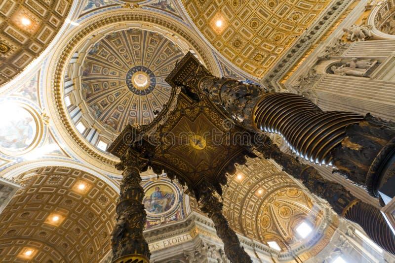 Saint Peter's basilica interior in Vatican. Rome, Italy stock image
