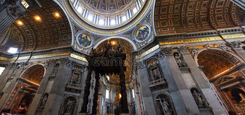 Saint Peter s Basilica -Panorama royalty free stock photos