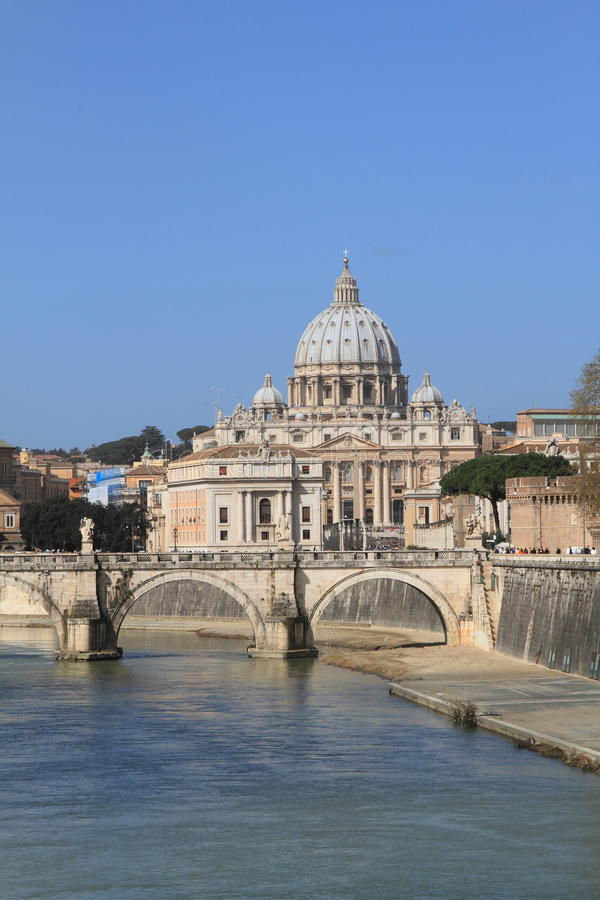 Download Saint Peter's Basilica Viewed From Tiber River Stock Photo - Image: 21795222