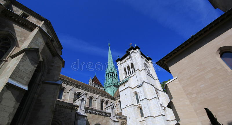Saint-Peter S Cathedral In Geneva, Switzerland Royalty Free Stock Photography