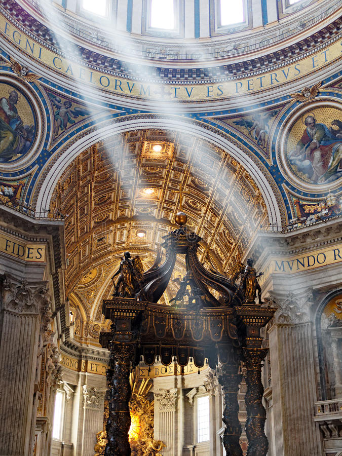 Saint Peter`s Cathedral, Rome stock photos