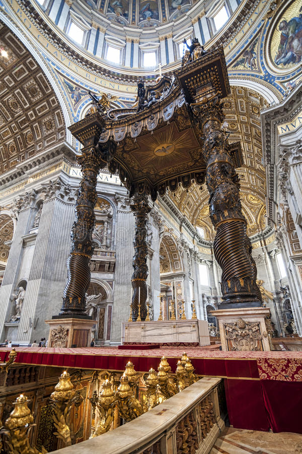 Saint Peter's cathedral Rome. A view of the Saint peter's cathedral in Rome stock image