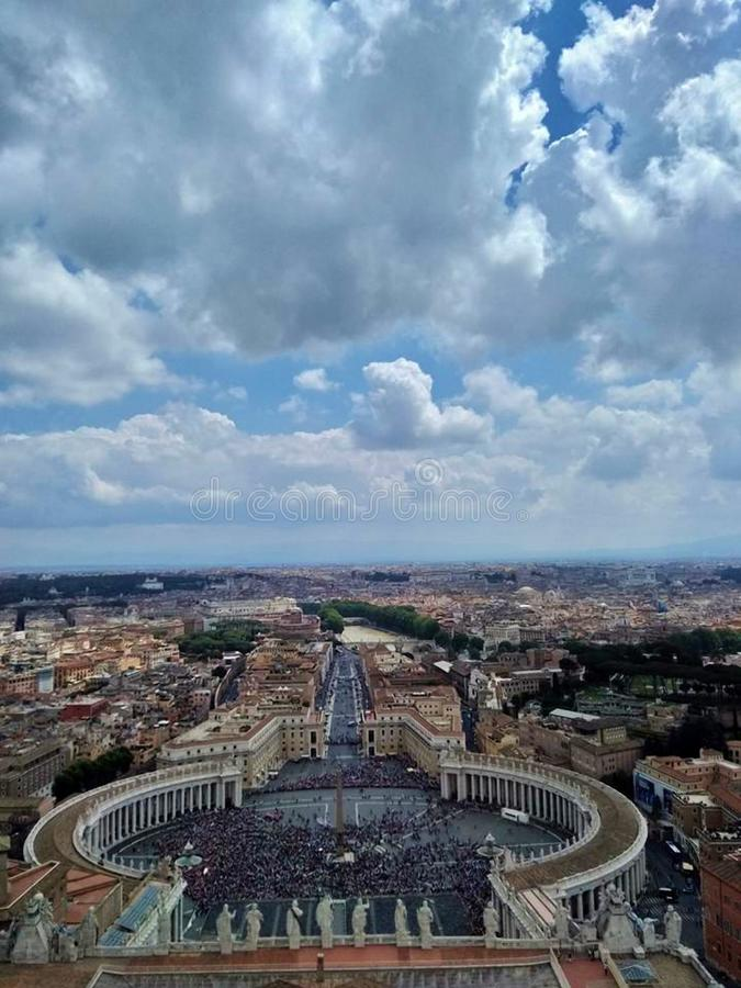 Saint Peter`s Square stock photography
