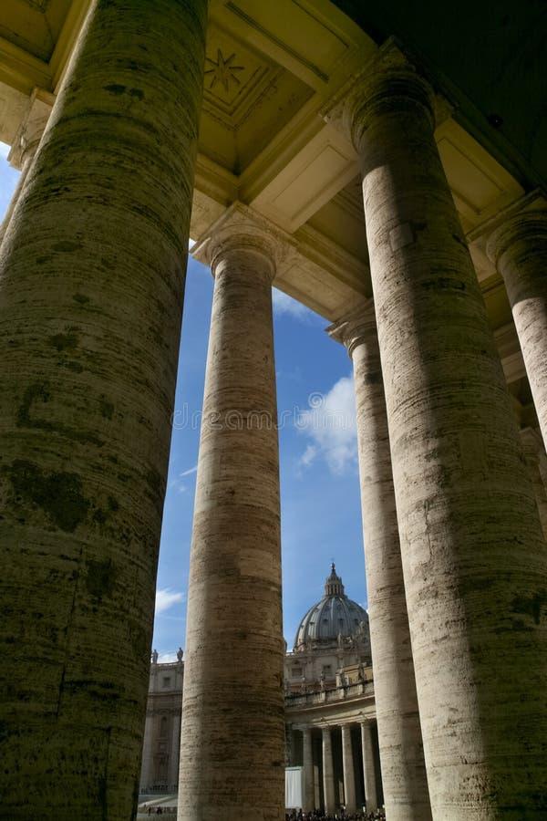Saint Peter square - Rome - Italy stock image