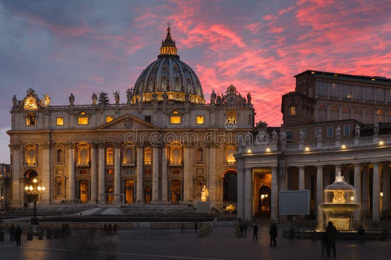 Saint Peter Square And Saint Peter Basilica In The Morning ...