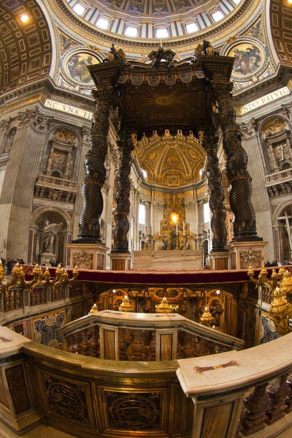 Saint Peter, Vatican, autel image libre de droits