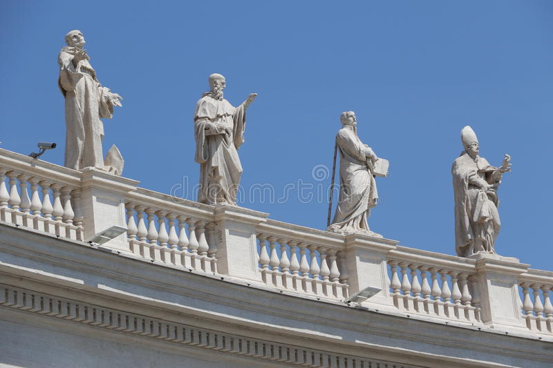 Saint Peter in the Vatican stock images