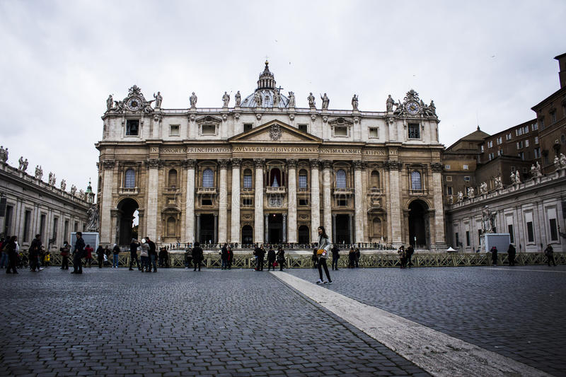 Saint Peters Basilica stock photo