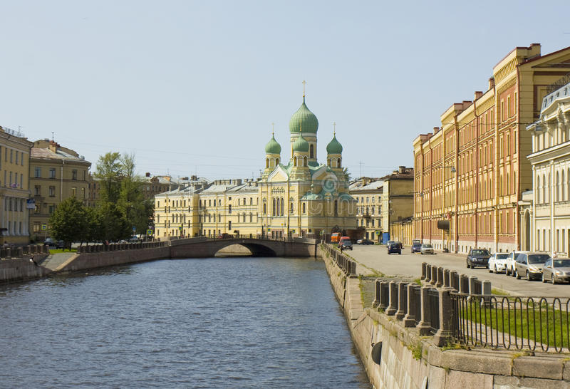 Saint Petersburg, cathedral of St. Isidor stock photo